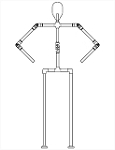 Single Spine Body Hardware Kit (with fixed legs)
